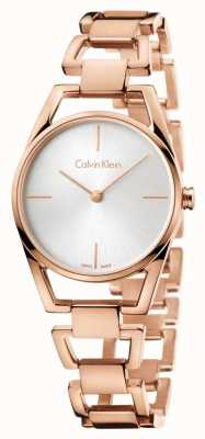 Calvin Klein Womans dainty rosa banhado a ouro K7L23646
