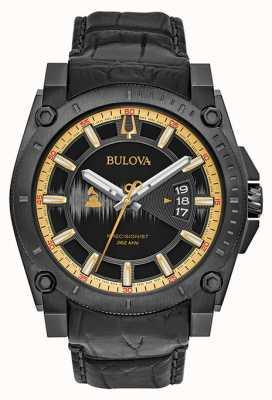 Bulova Edição especial de couro preto grammy precisionist 98B293