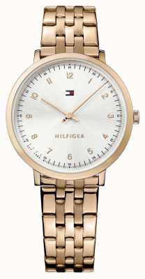 Tommy Hilfiger Womans pippa rosa banhado a ouro 1781760