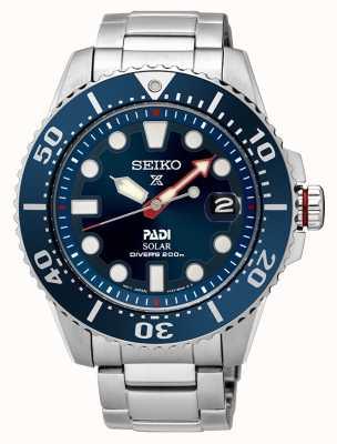 Seiko Mens padi prospex solar mostrador azul SNE435P1