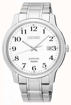 Seiko Mens safira clássico prata branco SGEH67P1