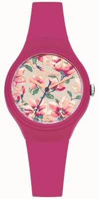 Cath Kidston Correia de silicone rosa da mulher floral dial impresso CKL029P