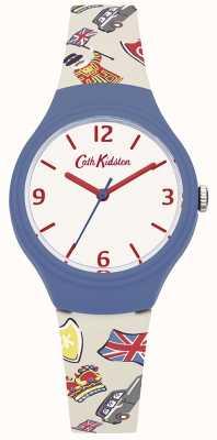 Cath Kidston Bracelete de silicone gráfico britânica branca da mulher CKL026CU