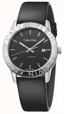 Calvin Klein Womans preto constante couro preto discar K7Q211C1