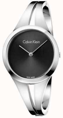 Calvin Klein Womans viciado em aço pulseira preta discagem m K7W2M111