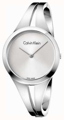 Calvin Klein Womans viciado em aço pulseira de discagem prata m K7W2M116
