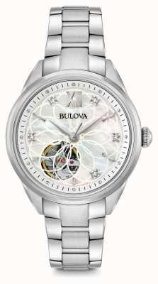 Bulova Relógio de diamantes automático das mulheres 96P181