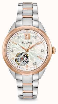 Bulova Relógio de diamantes automático das mulheres 98P170