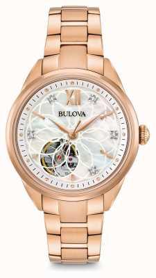Bulova Relógio de diamantes automático das mulheres 97P121