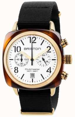 Briston Mens cronógrafo clássico clubmaster 17140.PYA.T.2.NB