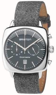 Briston Mens clubmaster cinza de tecido cinza pulseira de discagem 17140.PS.V.17.LFG