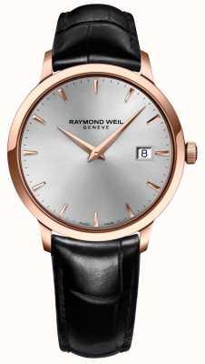 Raymond Weil Couro de prata de toccata de Mens 5488-PC5-65001
