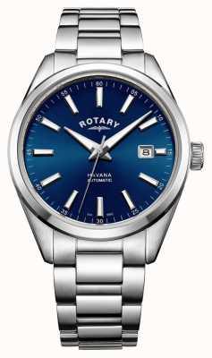Rotary Mens havana aço inoxidável azul GB05077/05