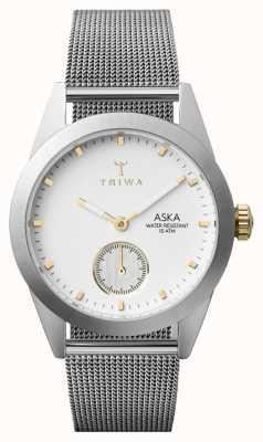 Triwa Womens neve aska malha de prata super-slim AKST102-MS121212