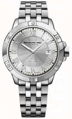 Raymond Weil Prata de aço do tango dos homens 8160-ST-00658
