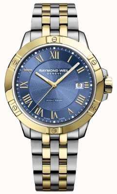 Raymond Weil Relógio de tango para homem | cinta de aço inoxidável | mostrador azul profundo | 8160-STP-00508