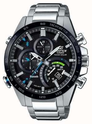 Casio Corredor solar resistente dos homens do bluetooth do edifício EQB-501XDB-1AMER