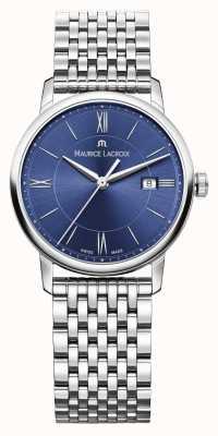 Maurice Lacroix Mostrador azul pulseira de aço inoxidável das mulheres eliros EL1094-SS002-410-1