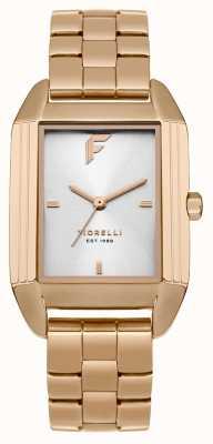 Fiorelli Womans subiu pulseira de ouro pulseira de cetim FO034RGM