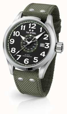 TW Steel Mens volante exército verde 45mm VS21