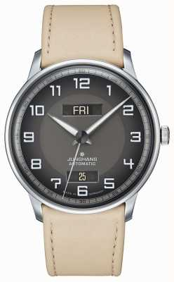 Junghans Meister driver automatic day date tan strap 027/4721.01