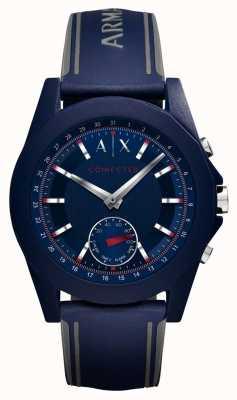 Armani Exchange Pulseira de silicone azul relógio inteligente conectada AXT1002