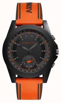 Armani Exchange Pulseira de silicone laranja de relógio inteligente conectada AXT1003