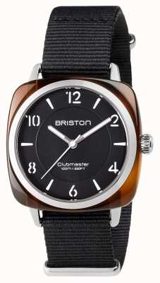 Briston Aço de acetato preto unisex clubmaster chique com pulseira nato 17536.SA.T.1.NB
