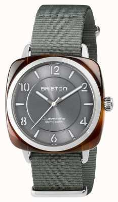 Briston Unisex clubmaster chique cinza acetato de aço com pulseira nato 17536.SA.T.11.NG