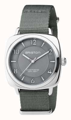 Briston Aço cinza chique clubmaster unisex com alça nato 17536.S.L.17.NG