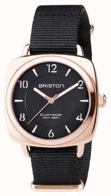 Briston Unisex clubmaster chic pvd preto subiu ouro 17536.SPRG.L.1.NB