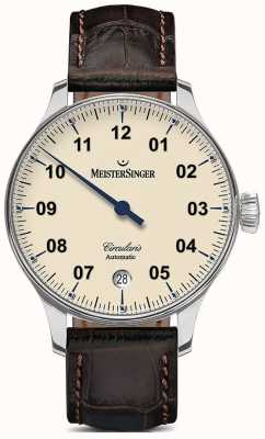 MeisterSinger Mens marfim automático circularis CC903