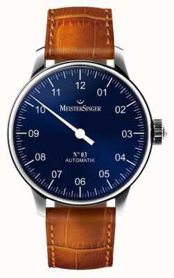 MeisterSinger Mens clássico não. 3 sunburst automático azul AM908