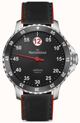 MeisterSinger Mens classic plus salthora meta x vermelho preto automático SAMX902