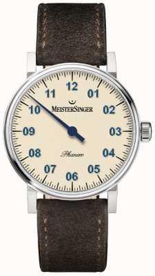 MeisterSinger Mens forma e estilo phanero handwound marfim PH303