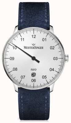 MeisterSinger Mens forma e estilo de prata automática NE401
