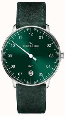 MeisterSinger Mens forma e estilo neo sunburst automático verde NE909N