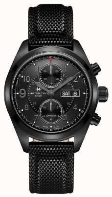 Hamilton Crono de automóvel de campo caqui * relógio do macaco de tom clancy * H71626735