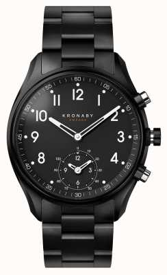 Kronaby Smartwatch da correia do metal do pvd do preto do bluetooth do apex 43mm A1000-0731