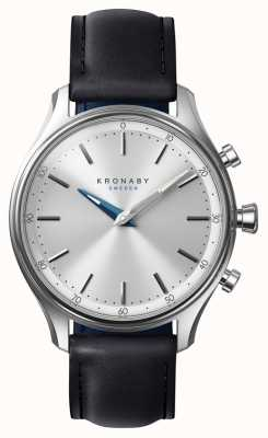 Kronaby Smartwatch da correia de couro preta do bluetooth do sekel de 38mm A1000-0657