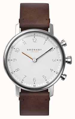 Kronaby Smartwatch da correia de couro do marrom do bluetooth do nord 38mm A1000-0711
