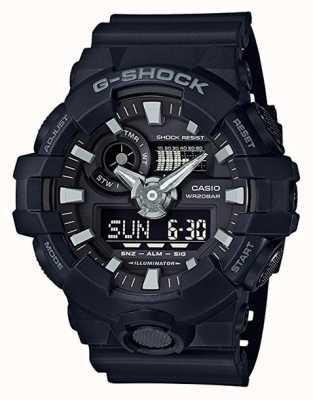 Casio Cronógrafo de alarme preto para homem g-shock GA-700-1BER