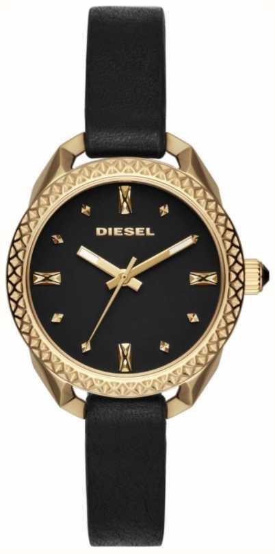 5bbcb763cd0 Diesel Senhoras Shawty Preto E Relógio De Ouro DZ5547 - First Class ...
