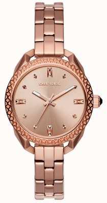 Diesel Senhoras shawty rosa pulseira de ouro DZ5549