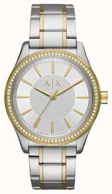 Armani Exchange Senhoras nicolette dois tom relógio AX5446