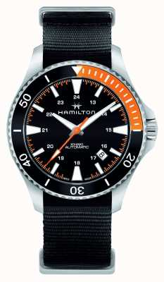 Hamilton Mens khaki navy scuba automatic preto H82305931