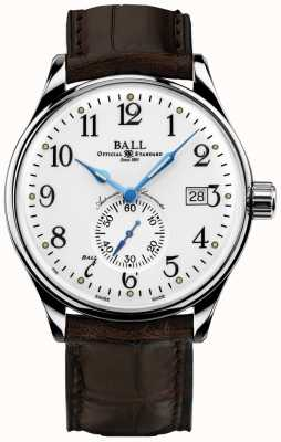 Ball Watch Company Cronômetro de tempo padrão Trainmaster Mens NM3888D-LL1CJ-WH