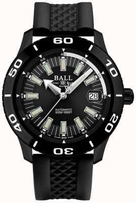 Ball Watch Company Bombeiro necc pvd caso pulseira de borracha preta DM3090A-P4J-BK