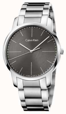 Calvin Klein Mens pulseira de aço inoxidável pulseira cinza K2G2G1Z3