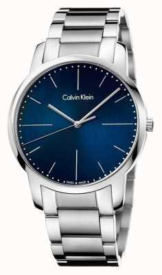 Calvin Klein Mens pulseira de aço inoxidável cidade azul K2G2G1ZN